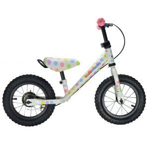 Kiddimoto Super Junior Balance Bike Pastel Dotty