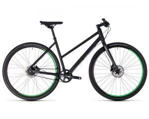 Cube Hyde Race Trapeze - Urban Bike 2018 | black n green