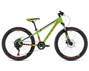 Cube Kid 240 Race - Jugendfahrrad 24 Zoll 2018 | green n orange