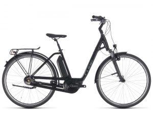 Cube Town Hybrid ONE 400 Easy Entry - Elektro City Bike 2018 | black n frostgreen