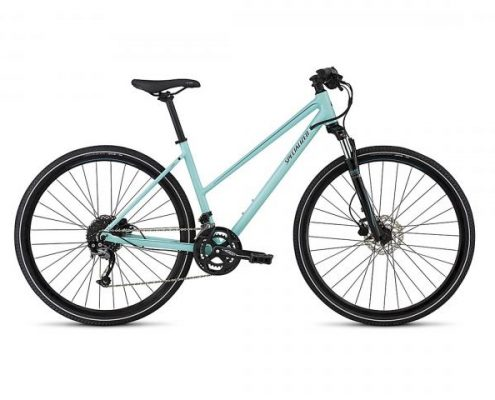 Specialized Ariel Sport Step Through INT - Cross Bike 2018 | gloss lt turquoise-turquoise-tarmac blk
