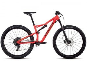 Specialized Camber FSR Comp 27.5 - Damen MTB Fully 2018 | satin gloss acid red-limon-black