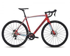 Specialized CruX Sport E5 - Cyclocross Bike 2018 | gloss rocket red-light blue-navy