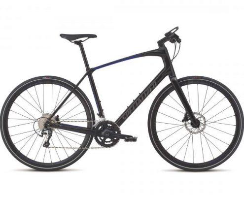 Specialized Sirrus Elite - Carbon Fitness Bike 2018 | tarmac black-rocket red-acid blue fade-charcoa