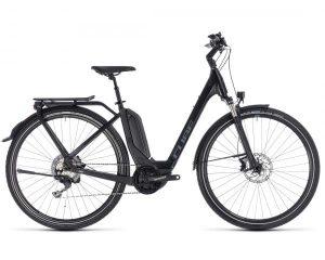 Cube Touring Hybrid EXC 500 Easy Entry - Elektro City Bike 2018 | black n grey