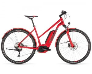 Cube Cross Hybrid Pro 500 Allroad Trapeze - Elektro Cross Fahrrad 2019 | red n grey