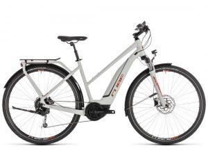 Cube Touring Hybrid 400 Trapeze - Elektro Trekking Fahrrad 2019 | grey n orange
