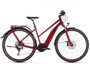 Cube Touring Hybrid EXC 500 Trapeze - Elektro Trekking Fahrrad 2019   darkred n red