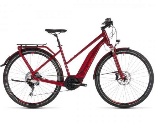 Cube Touring Hybrid EXC 500 Trapeze - Elektro Trekking Fahrrad 2019 | darkred n red