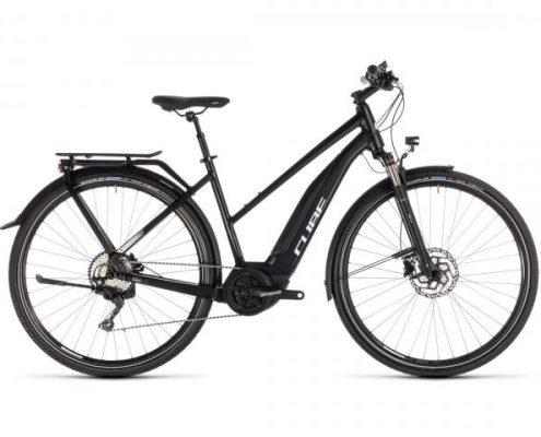 Cube Touring Hybrid Pro 500 Trapeze - Elektro Trekking Fahrrad 2019 | black n white