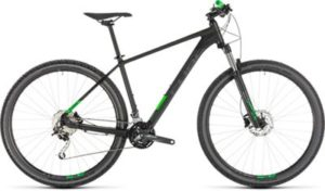"Cube Analog 27.5 Hardtail Mountain Bike 2019 - Black - Green - 41cm (16.25"")"