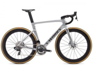Specialized S-Works Venge Disc RED eTap AXS - Carbon Rennrad 2019 | gloss metallic white silver-lite