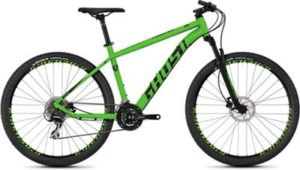 Ghost Kato 3.7 Hardtail Bike 2019 - Night Black - Riot Green