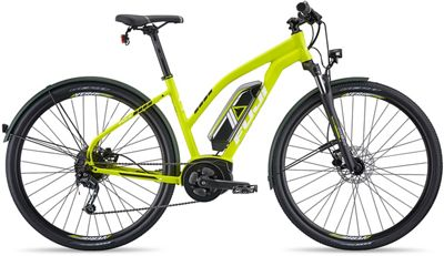 "Fuji E-Traverse 1.3+ ST Intl Women's E-Bike 2019 - Satin Citrus - 41cm (16.25"")"