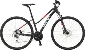 GT Transeo Elite Easy Entry Bike 2020 - Satin Black - Red - M