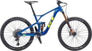 GT Force Carbon Pro 27.5 Bike 2020 - Gloss Team Blue - Yellow