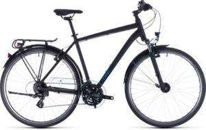 "Cube Touring Bike 2020 - Black - Blue - 46cm (18"")"