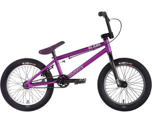 "Blank Buddy 16"" BMX Bike 2018 - Vivid Matt Purple - 16.5"""