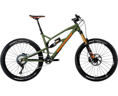 Nukeproof Mega 275 Carbon Factory Bike XT 2019 - Military Green - Orange - XL