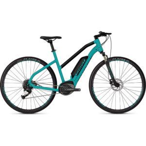 Ghost Square Cross B1.8 Women's E-Bike 2019 - Electric Blue - Jet Black
