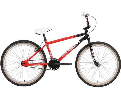 "Haro Group 1 RS-2 24"" Cruiser Bike 2019 - Black - Red - 22"""