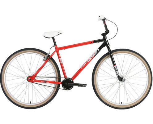 "Haro Group 1 RS-2 29"" Cruiser Bike 2019 - Black - Red - 23.5"""