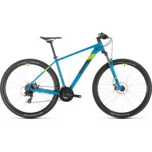 "Cube Aim Hardtail Mountain Bike 2020 - Blue - Green - 40.5cm (16"")"
