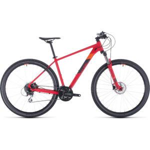 "Cube Aim Race 29 Hardtail Mountain Bike 2020 - Red - Orange - 43.5cm (17"")"