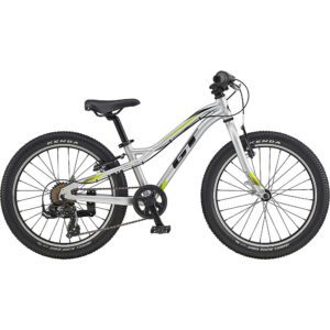 "GT Stomper Ace 20 Kids Bike 2020 - Gloss Silver - Black - 20"""