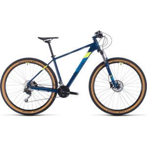 "Cube Aim SL 29 Hardtail Bike 2020 - Blueberry - Flashyellow - 19"""