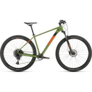 "Cube Analog 29 Hardtail Bike 2020 - Green - Orange - 21"""