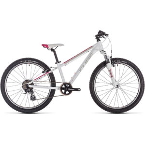 Cube Access 240 Kids Bike 2020 - White - Red - Coral - 24""