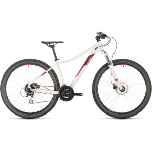 "Cube Access WS EAZ 27.5 Womens Hardtail Bike 2020 - White - Berry - 16.25"""