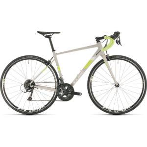 "Cube Axial WS Womens Road Bike 2020 - Lightgrey - Green - 47cm (18.5"")"