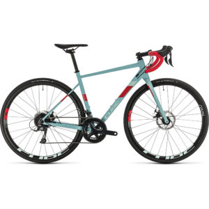 """Cube Axial WS Pro Womens Road Bike 2020 - Greyblue - Coral - 53.5cm (21"""")"""