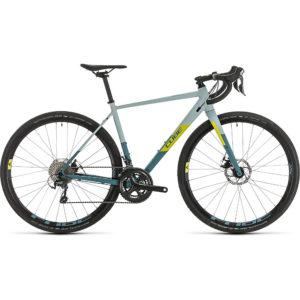 "Cube Nuroad WS Womens Road Bike 2020 - Greyblue - Lime - 58cm (22.75"")"