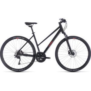 "Cube Nature EXC Trapeze Urban Bike 2020 - Black - Red - 50cm (19.5"")"