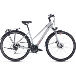 "Cube Touring Pro Trapeze Bike 2020 - Grey - Orange - 46cm (18"")"