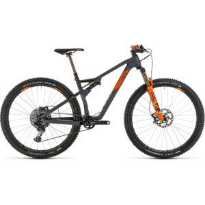 """Cube AMS 100 C:68 TM 29 Suspension Bike 2020 - Grey - Orange - 46cm (18"""")"""