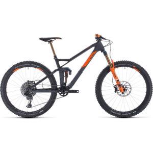 "Cube Stereo 140 HPC TM 27.5 Suspension Bike 2020 - Grey - Orange - 57cm (22"")"