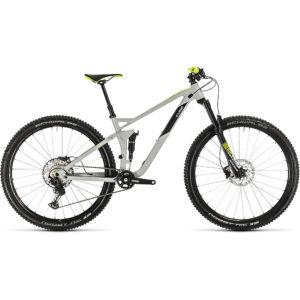 "Cube Stereo 120 Race 29 Suspension Bike 2020 - Grey - Yellow - 46cm (18"")"
