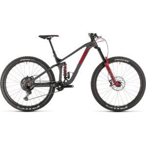 "Cube Stereo 170 TM 29 Suspension Bike 2020 - Grey - Red - 46cm (18"")"