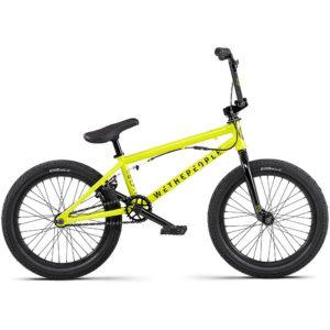 """WeThePeople CRS CS 18"""" BMX Bike 2020 - Metallic Yellow - RSD"""