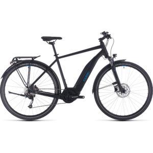 "Cube Touring Hybrid One 400 E-Bike 2020 - Black - Blue - 50cm (19.5"")"