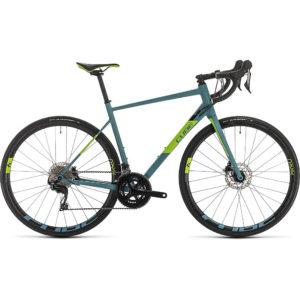 "Cube Attain SL Road Bike 2020 - Bluegrey - Green - 50cm (19.5"")"
