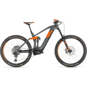 "Cube Stereo Hybrid 160 HPC TM 625 27.5 E-Bike 2020 - Grey - Orange - 46cm (18"")"