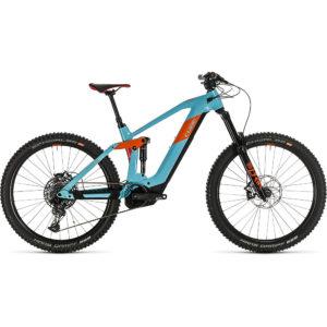 "Cube Stereo Hybrid 160 HPC SL 625 27.5 E-Bike 2020 - Blue - Orange - 57cm (22"")"