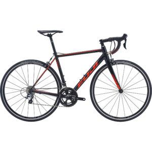 "Fuji SL-A 1.5 Road Bike 2020 - Satin Black - Red Orange - 56cm (22"")"