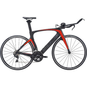 "Fuji Norcom Straight 2.3 TT Bike 2020 - Satin Carbon - Red Orange - 51.5cm (20"")"