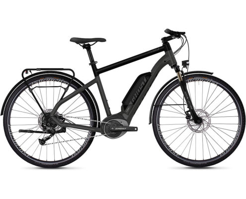 Ghost Hybride Square Trekking B1.8 E-Bike 2020 - Grey - Black